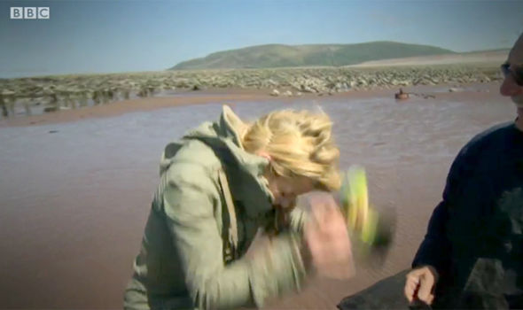 Countryfile host Ellie Harrison looked like she was going to be sick