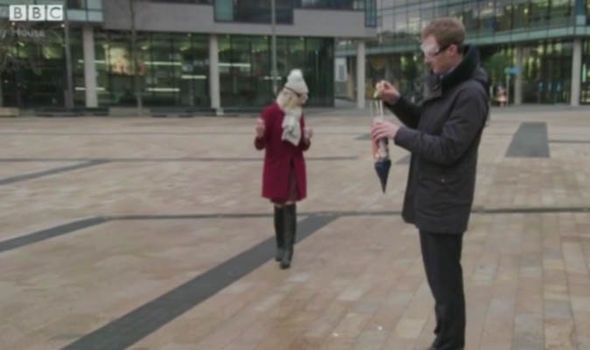 Dan Walker gets his rocket ready on BBC Breakfast