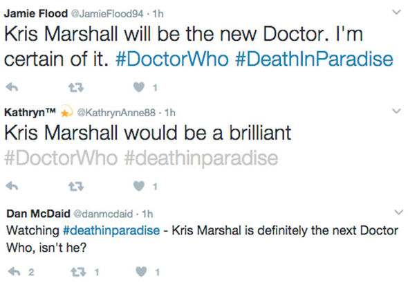 Death in Paradise viewer tweets