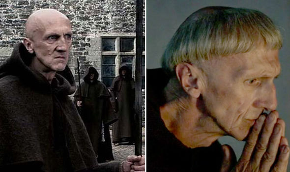 Ian Hanmore as monks in both Outlander and Doctor Who