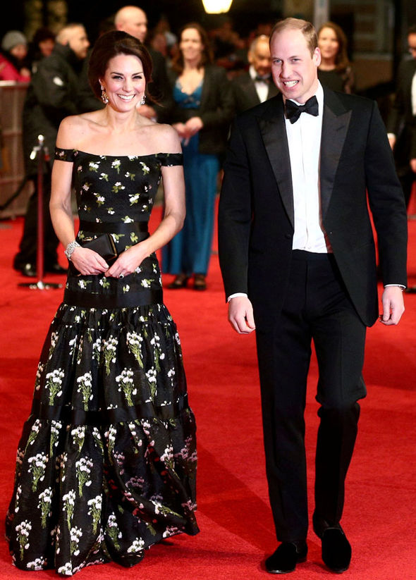 Duke and Duchess of Cambridge arrive at the BAFTAs