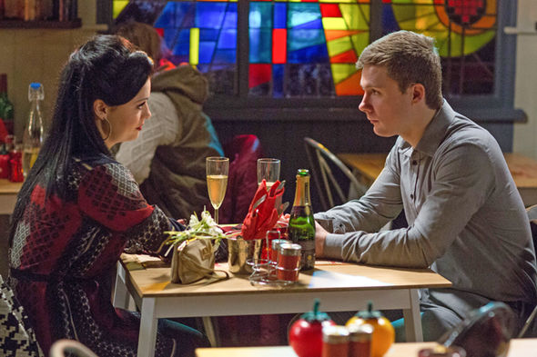 EastEnders Whitney and Lee go out for Valentine's day