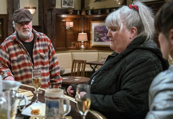 Lisa and Zak Dingle in The Woolpack