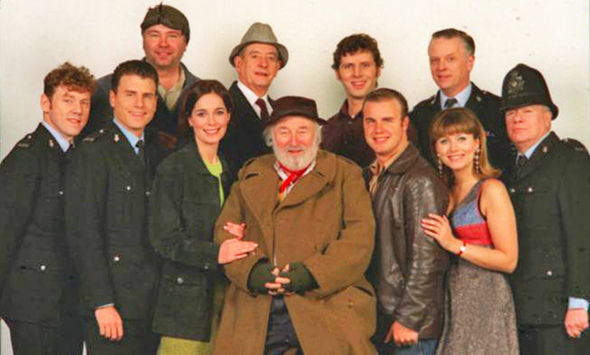 Gary Barlow with the cast of ITV's Heartbeat