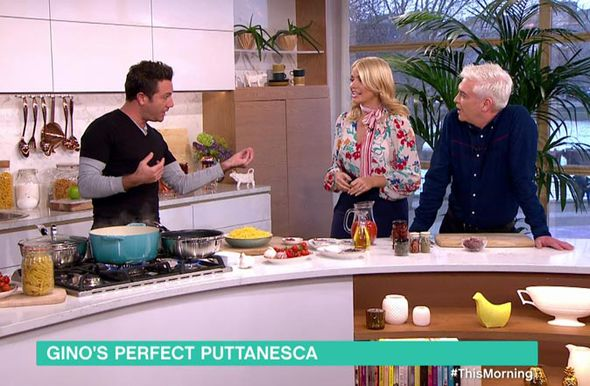 Gino D'Acampo with Holly and Phillip
