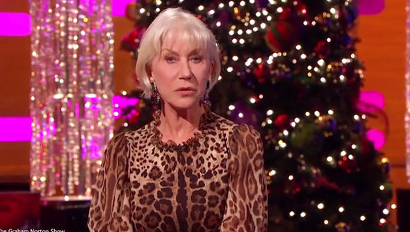 leopard print sofa appears milari linen helen mirren delivers a very alternative christmas message ...