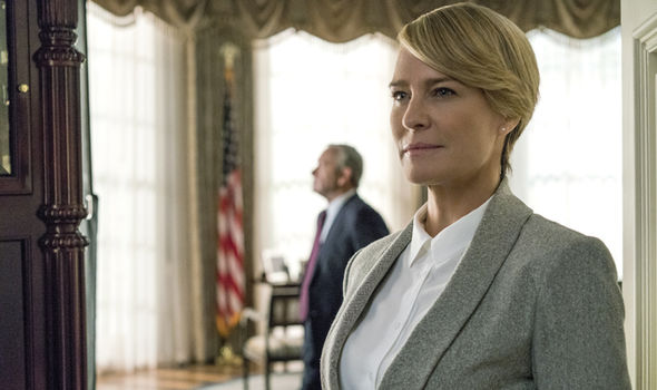 Robin Wright as Claire Underwood in House of Cards