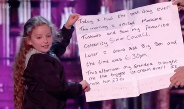 Issy Simpson performs in the Britain's Got Talent semi-final