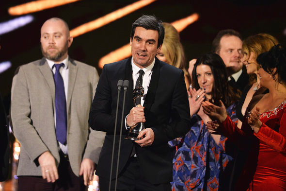 Jeff Hordley,spoke on behalf of the cast and crew