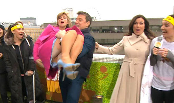 Kate Garraway flashes her knickers on Good Morning Britain