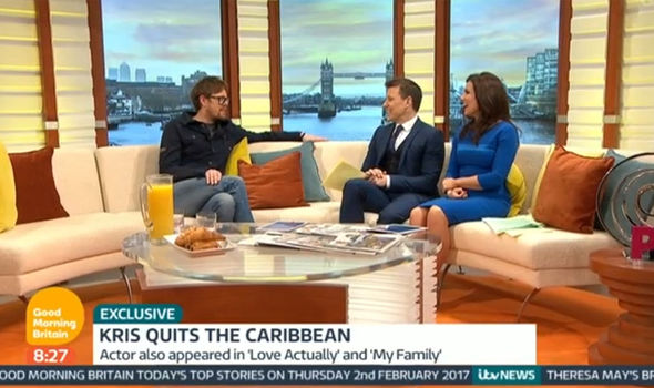 Kris Marshall talks about Death in Paradise on Good Morning Britain