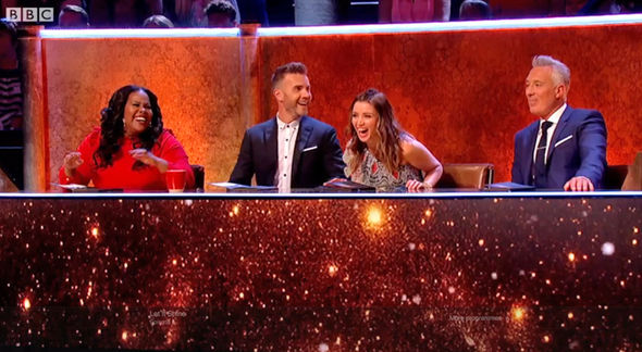Let It Shine Martin Kemp was not impressed as the rest of the panel laughed at the 'wooden' remark