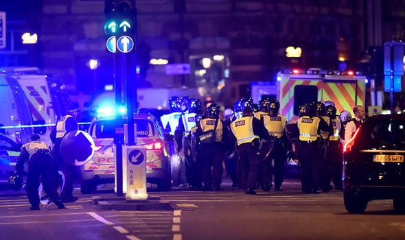 Scenes from the attack on London from the weekend