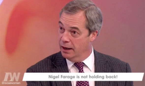 Nigel Farage spoke about wanting a role in government on Loose Women