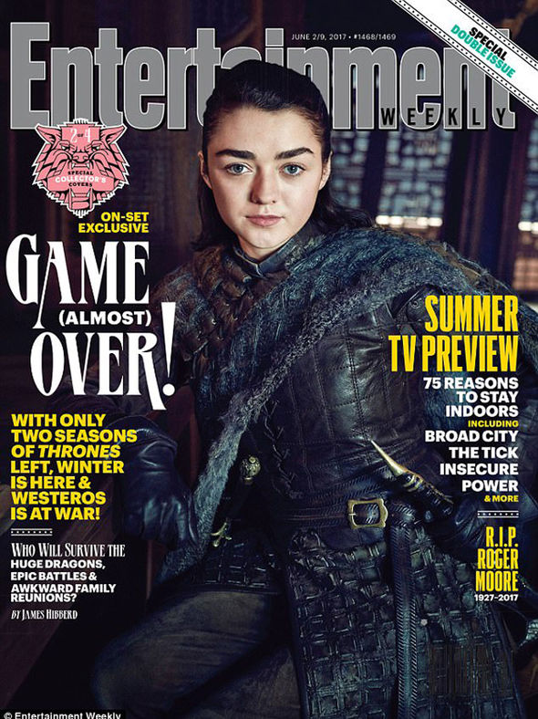 Maisie as Arya on Entertainment Weekly cover