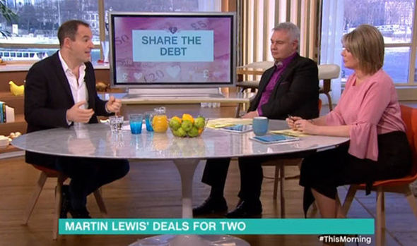 Martin Lewis chats to Eamonn Holmes and Ruth