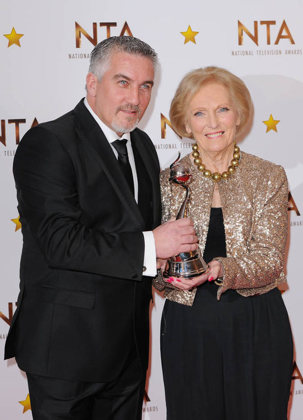 Mary Berry and Paul Hollywood with award
