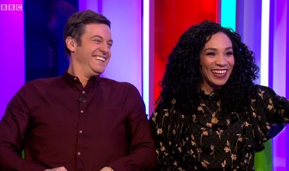 Matt Baker and Michelle Ackerley The One Show