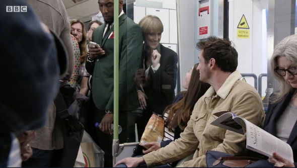 Michelle Fowler also got on the tube