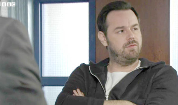 Mick Carter is questioned by the police on EastEnders