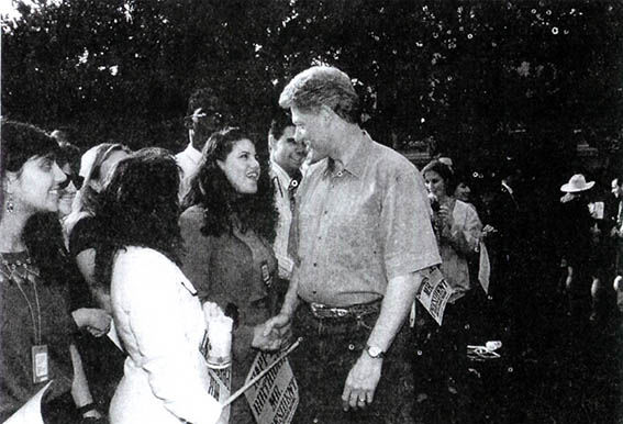 Monica Lewinsky meeting President Bill Clinton