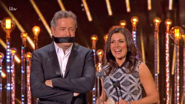 NTAs 2017 Piers Morgan gagged by Good Morning Britain co-host Susanna Reid