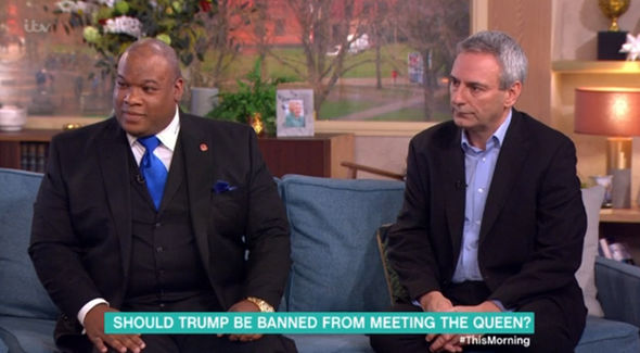 Pastor Mark Burns and Kevin Maguire