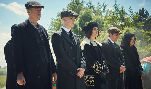The cast of BBC drama Peaky Blinders which returns soon