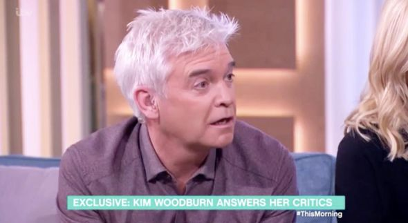 Philip Schofield seemed shock by the exchange
