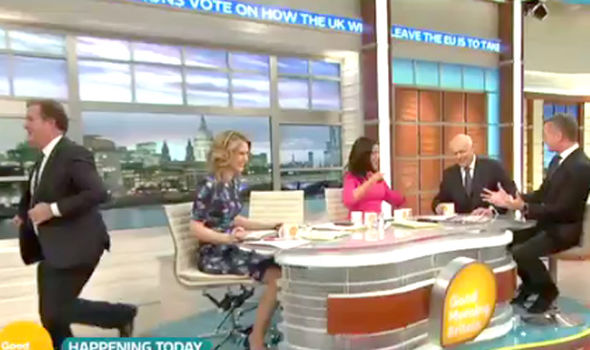 Piers Morgan walks off Good Morning Britan