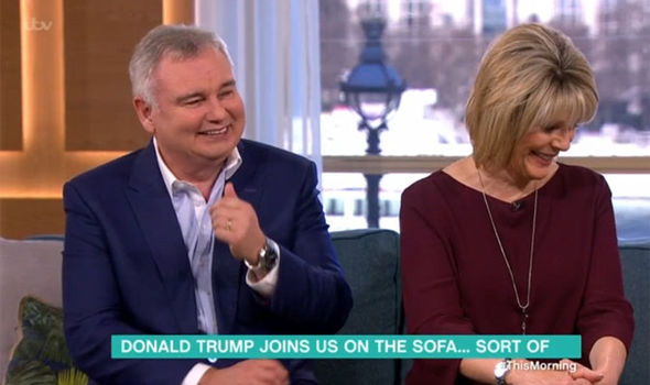 Eamonn Holmes makes a joke about Ruth Langsford