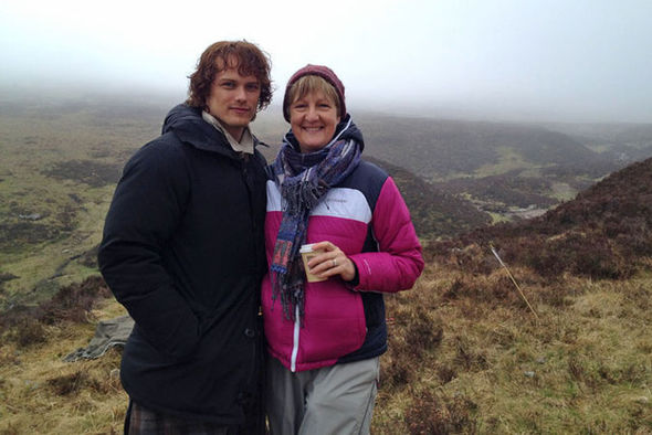 Sam Heughan and Anne Kenney