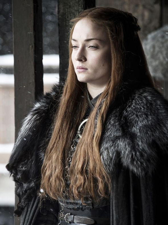 Sansa Stark looks out at Winterfell