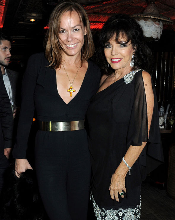 Tara Palmer-Tomkinson with Joan Collins