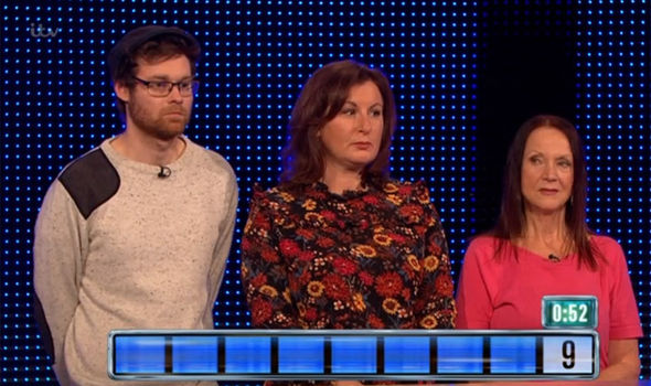 The team on The Chase left with nothing this evening