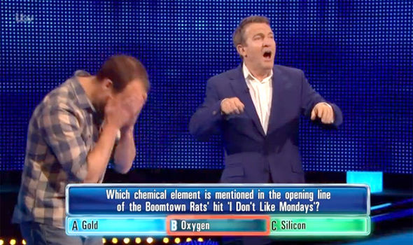 Bradley Walsh was shocked by the comeback on The Chase