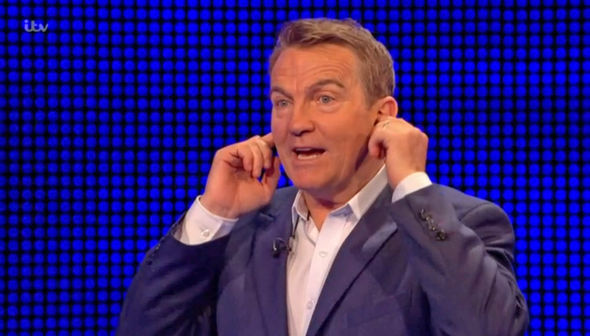 The Chase Bradley Walsh covered his ears while Tamrin made the revelations
