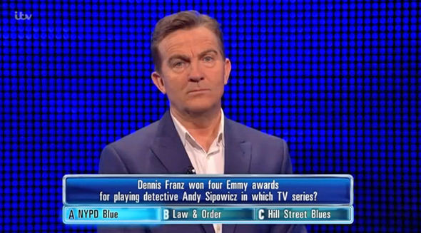 The Chase Callum mocked Bradley Walsh in Law & Order