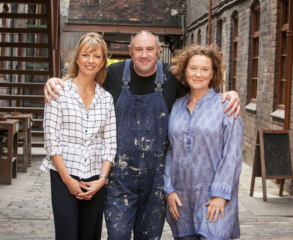 The Great British Pottery Throw Down presenters