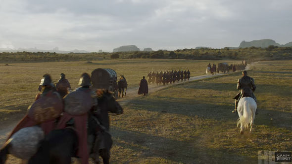 The Lannister army is descending