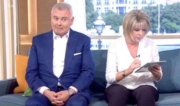 Ruth Langsford found Eamonn Holmes groping her knee