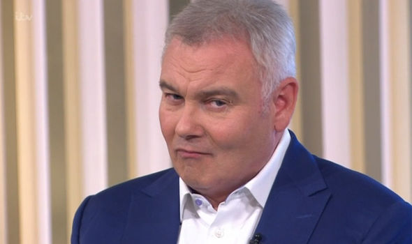 This Morning host Eamonn Holmes was seen getting naught on the show