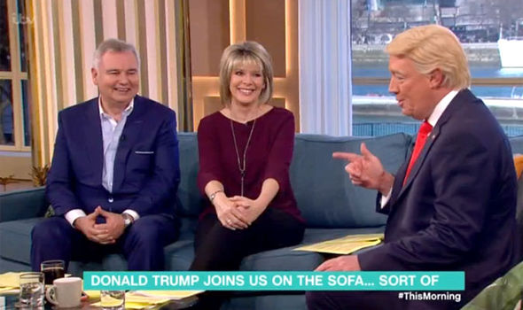 Mike Osman as Donald Trump on This Morning