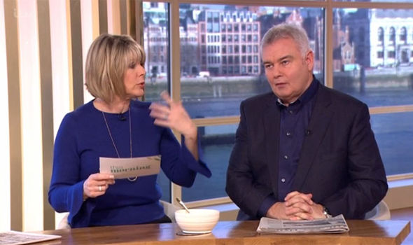 Ruth Langsford was infuriated by Eamonn Holmes on This Morning