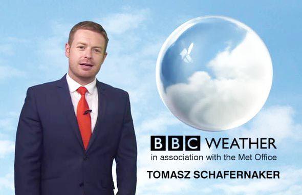 Tomasz Schafernaker best weather presenter