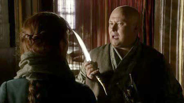 Varys holding the Valyrian dagger