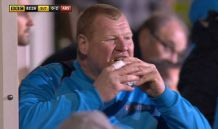wayne shaw, pie, sutton united, FA cup
