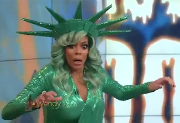 Wendy Williams show faints collapses live video Halloween costume Twitter