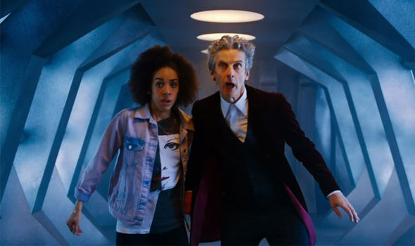Peter Capaldi with new companion Pearl Mackie