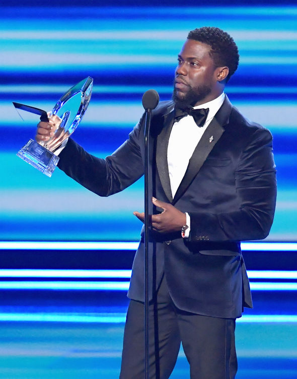 Kevin Hart accepted an award
